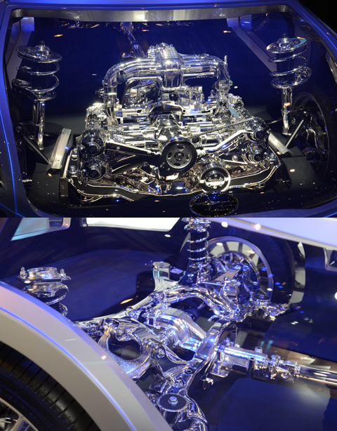 прозрачная Subaru
