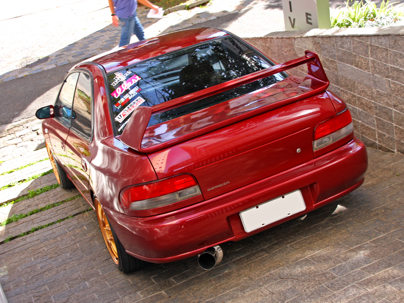 Subaru impreza gc8 red
