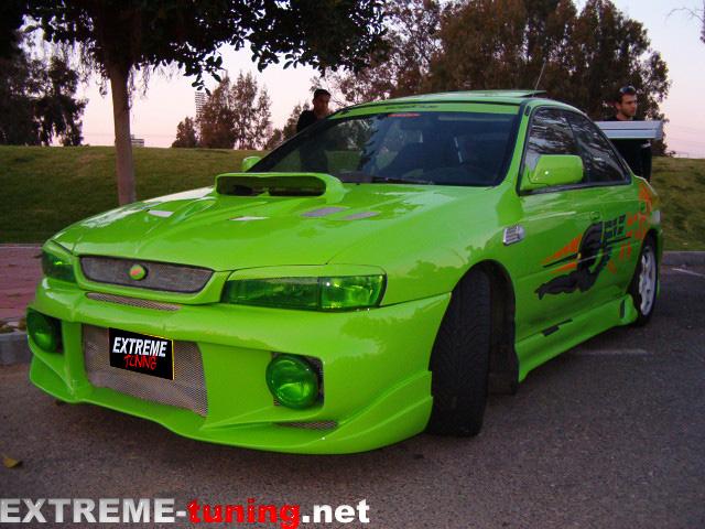 Subaru impreza gc8 green