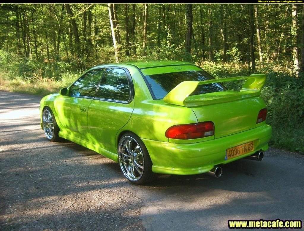 Subaru impreza gc8 light green