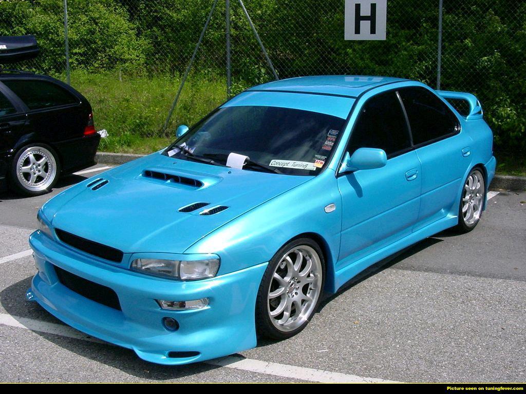 Subaru impreza gc8 cyan
